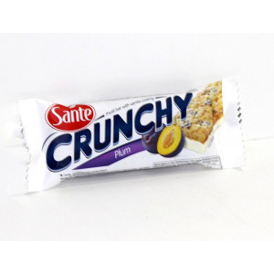 CRUNCHY BAR WITH PLUMS & YOGURT TOPPIN
